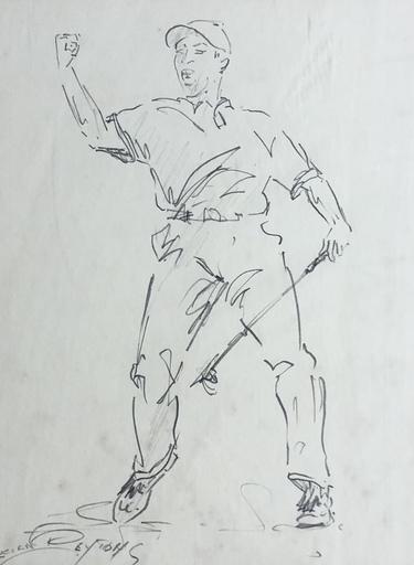 Lucien PEYTONG - 水彩作品 - GOLFEUR