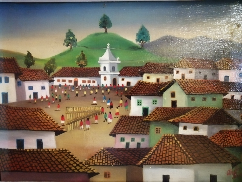 Absalon MOYANO - Peinture - Village en Equateur