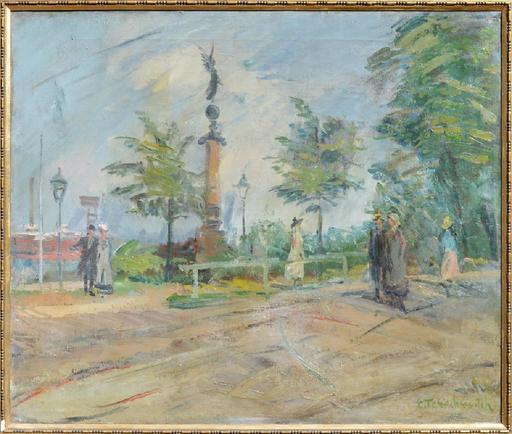 Constantin Andréevitch TERECHKOVITCH - Peinture - Paris view