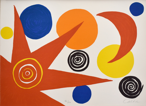 Alexander CALDER - Grabado - Composition IV, from The Elementary Memory