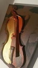 Fernandez ARMAN - Peinture - Violino spezzato montato su tela dipinta