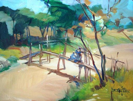Lun Gywe U - Pintura - on the brige