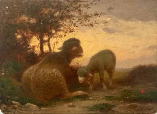 Nino COSTA - Pintura - Pecora e agnello