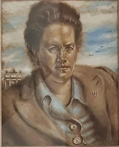 Alberto SAVINIO - Pittura - Ritratto di Margherita delle Gioie