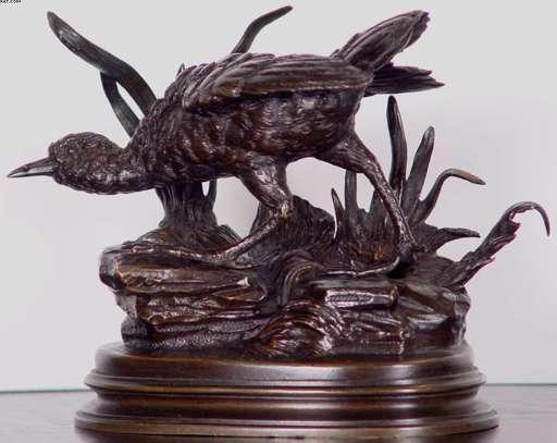 Lambert Alex. LÉONARD - Sculpture-Volume - Pair of Partridges