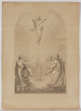 "Carl VON BLAAS - Drawing-Watercolor - ""Resurrection"", Nazarene Drawing by Carl von Blaas, ca 1860"