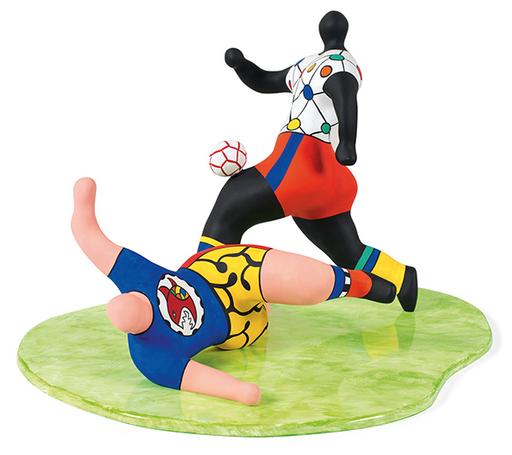Niki DE SAINT-PHALLE - Escultura - Les Footballeurs