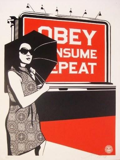 """谢帕德·费瑞 - 版画 - """"Billboard Consume"""""""