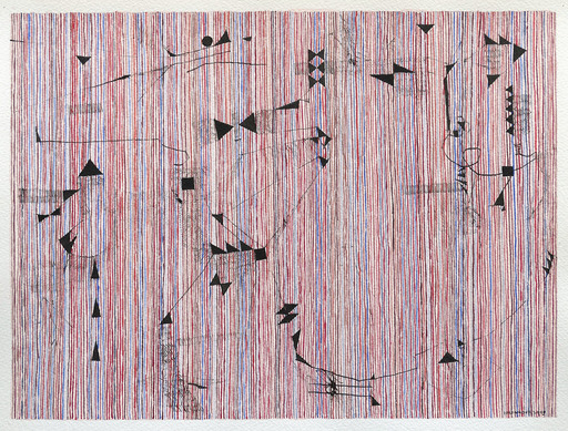 Jérémie IORDANOFF - Painting - Souris (Abstract work on paper)