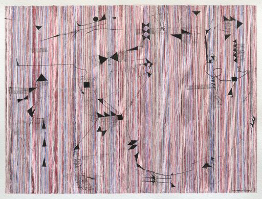 Jérémie IORDANOFF - Gemälde - Souris (Abstract work on paper)