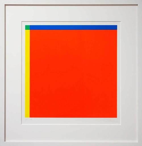 Richard Paul LOHSE - Grabado - Diagonal von Rot zu Grün aus Gelb und Blau 1:20