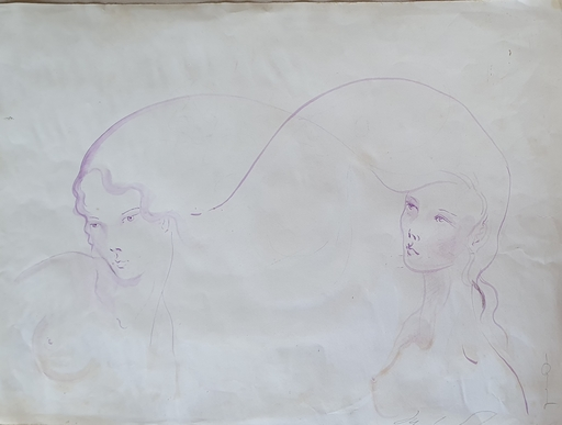 Yuko SHIRAISHI - Zeichnung Aquarell - Two Japanese Girls
