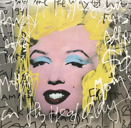 KOKIAN - Peinture - Silver Marilyn