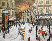 Charles MALLE - Peinture - Montmartre, place du Tertre