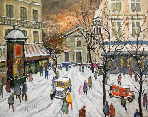 Charles MALLE - Painting - Montmartre, place du Tertre