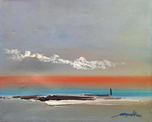 Tony BULLER - Painting - Coucher de soleil
