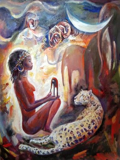 Evgeny BOCHAROV - Painting - African Princess