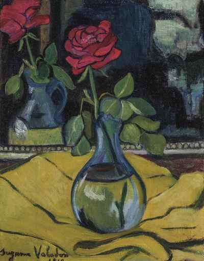 Suzanne VALADON - Pintura - La rose au miroir