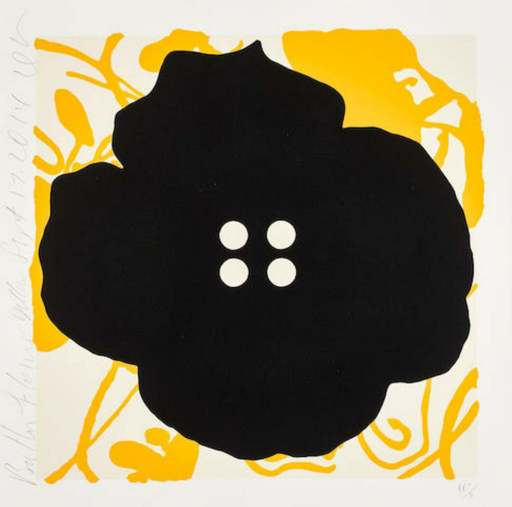 Donald SULTAN - Print-Multiple - Button Flower Yellow Sept. 15 2014