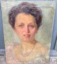 Evangelina Gemma ALCIATI - Pintura - Retrato de Dama