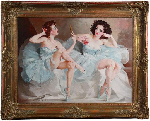 Mária SZANTHO - Pintura - two ballerinas
