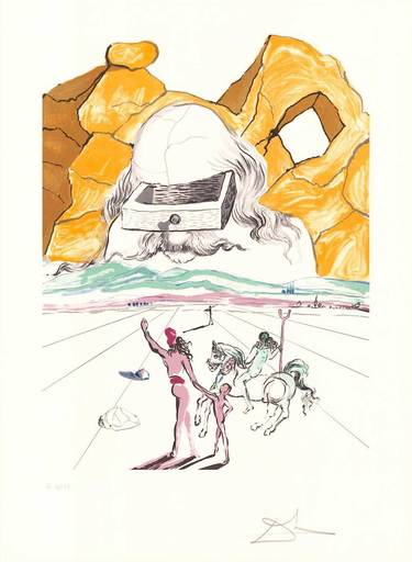 Salvador DALI - Print-Multiple - Der Pfad zur Weisheit - The Path to Wisdom