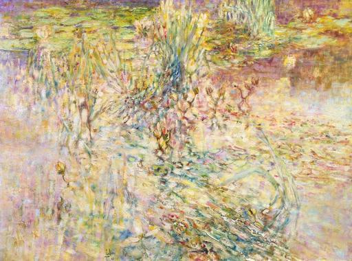 Louis P. FABIEN - Painting - l'etang fleuri