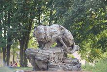 Patrick VILLAS - Sculpture-Volume - Grande panthère sur le rocher