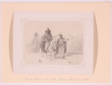 "Franz ADAM - Drawing-Watercolor - ""Balkan Warriors"", 1851, Drawing"