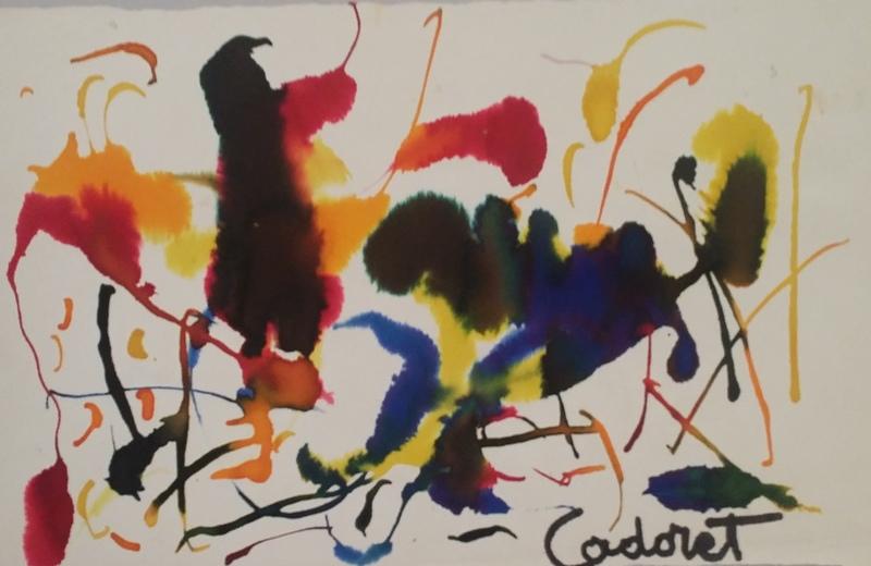 Michel CADORET - Painting - COMPOSITION