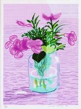 David HOCKNEY (1937) - iPad drawing purple calla