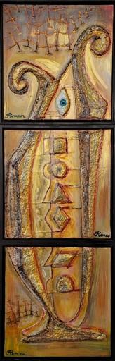 Romeo DOBROTA - Painting - New world's symbol,
