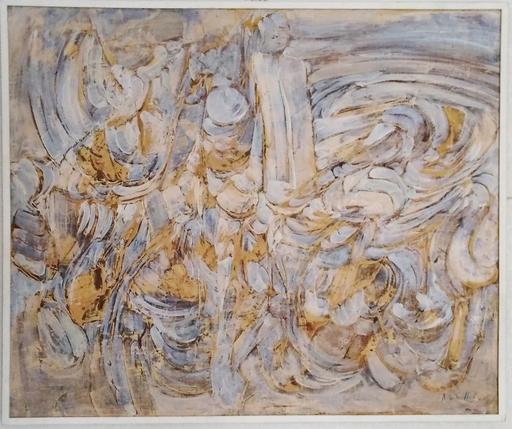 Roger-Edgar GILLET - Pintura - composition abstraite