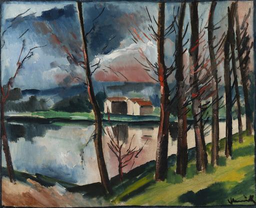 Maurice DE VLAMINCK - Pintura - Paysage au bord de l'eau
