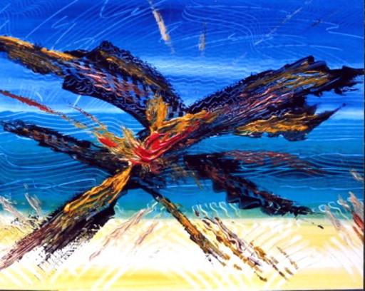 Didier ANGELS - Peinture - LA PLAGE ET LES OISEAUX