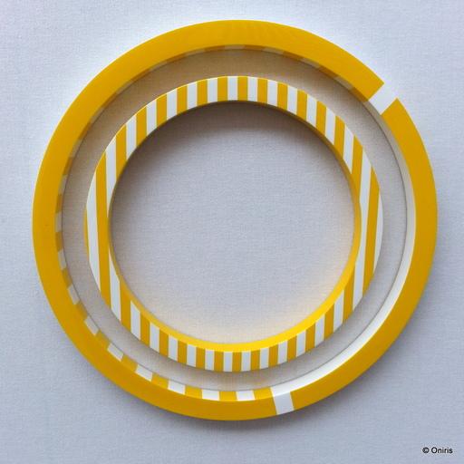 Gerhard DOEHLER - Sculpture-Volume - Sans titre - (jaune 27 cm)