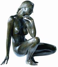 Jacques COQUILLAY - Escultura - L'heure bleue
