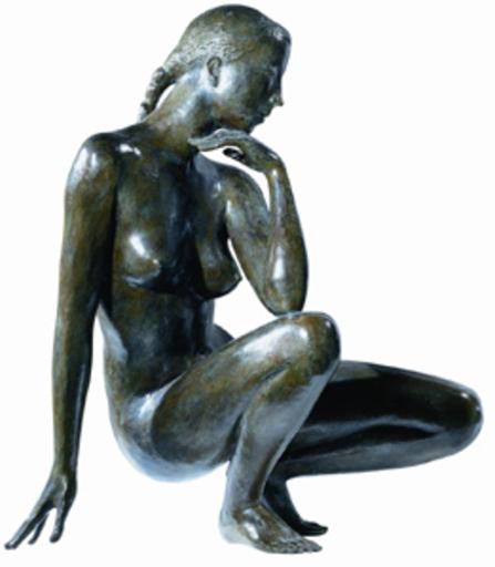 Jacques COQUILLAY - Skulptur Volumen - L'heure bleue