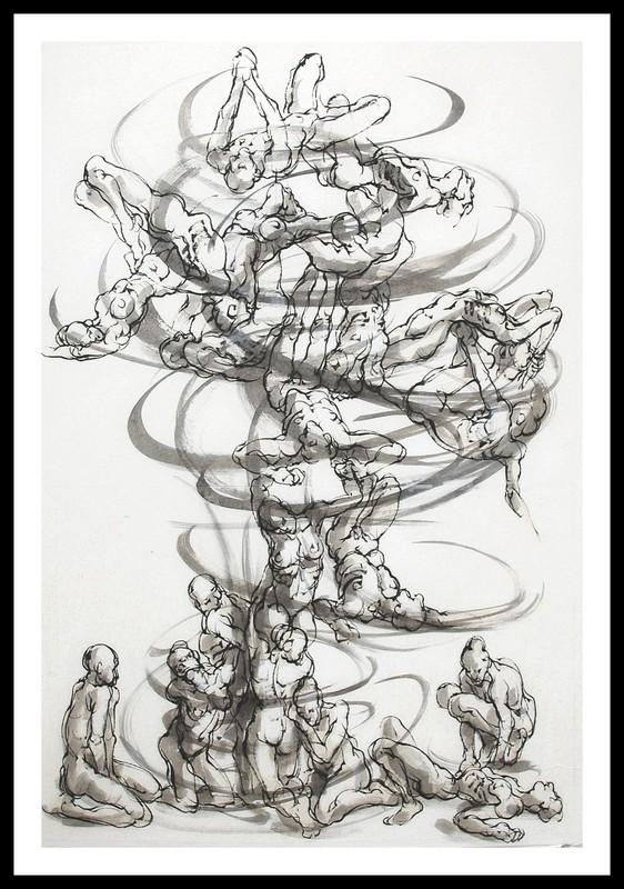 Marie TAKLANTI - Drawing-Watercolor - Vortex 3