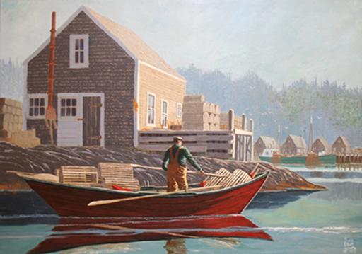 Bruce Elliot ROBERTS - Pintura - Rounding The Point