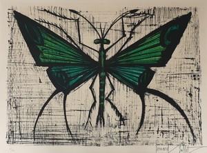 贝纳•毕费 - 版画 - Le papillon vert