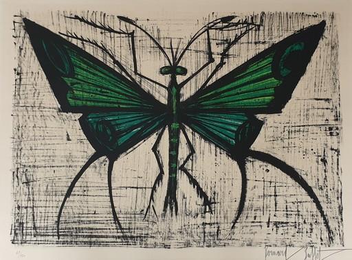 Bernard BUFFET - Stampa Multiplo - Le papillon vert