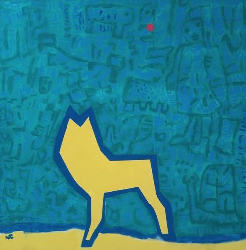 Harry BARTLETT FENNEY - Pittura - chien jaune tous seule