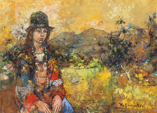 Jean COMMERE - Painting - La hippie