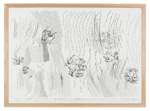 Jean-Luc PARANT - Zeichnung Aquarell - 10954 boules les yeux ouverts et les yeux fermés...