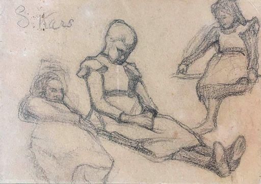 Georges KARS - Drawing-Watercolor -  Girls