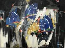 Bernard CADENE - Pittura - La maison du fou