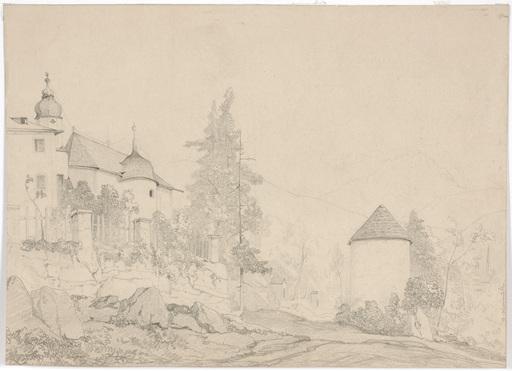 "Adolf OBERMÜLLNER - Dibujo Acuarela - Adolf Obermuellner (1833-1898), ""Motive of Klausenburg"""