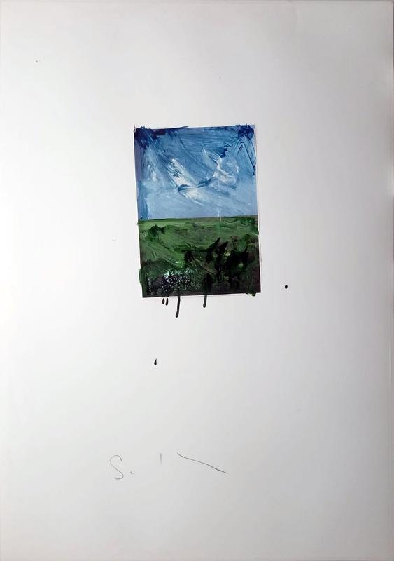 Mario SCHIFANO - Peinture - Paesaggio
