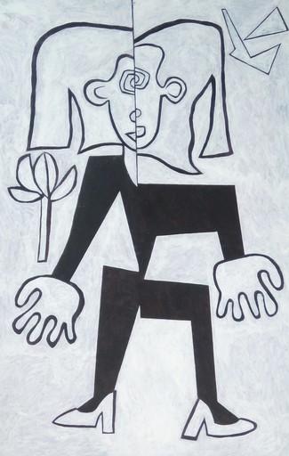 Harry BARTLETT FENNEY - Pittura - a blonde sort in black